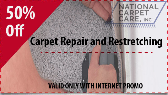 50% off carpet repair and restretching in Orlando